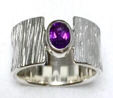 Ring Solitär Silber 925 + Amethyst 0.62ct. Handarbeit eigene Silberschmiede