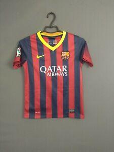 Barcelona Jersey 2013 2014 Home 10-12 y Kids Boys Shirt Nike 532808-413 ig93