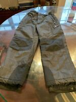 Youth Waterproof 32 Degrees Snow Pants Size L 14/16 Gray EUC