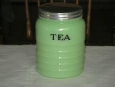 Jeannette Glass Co Jadite Tea Canister in (Excellent Cond)
