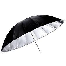 """Photo Studio 60"""" / 150cm Black Silver Reflective Umbrella for Flash Light Strobe"""