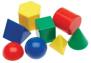 10 Mini Geosolids 3D Shapes Maths Teacher Resource Geometric Solids Montessori