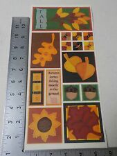 PEBBLES INC. FALL SAMPLER LEAVES STICKERS SCRAPBOOKING A3115