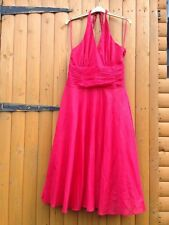 STUNNING MONSOON ORIANE RED 100% COTTON 50's SUMMER DRESS Marlyn Monroe Swing 12