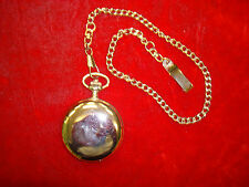 Nonbranded Japan Movment Silver Tone Pocket Watch