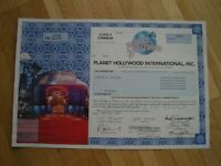 Hist. Wertpapier - PLANET HOLLYWOOD INTERNATIONAL INC. - 1997 - 1 Shares - Var.1