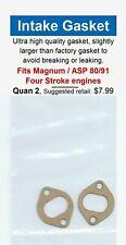 Magnum / ASP 80 & XL 91 FS Four Stroke Intake Manifold Gasket 2 Pack-NIP