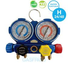 GRUPPO MANOMETRICO A 4 VIE MULTI GAS REFRIGERANTE R410A R32 R134A R22 HFO1234YF