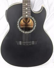 New! Dean Exhibition EX-BKS Black Satin Acoustic Electric Guitar