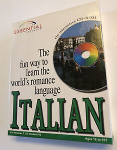 Essential Software Learn Italian Interactive CD ROM Windows 3.1 & Windows 95