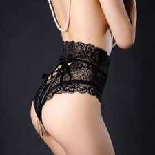 Women's Lace Panties High Waist G-string Briefs Thong Sexy Lingerie Underwear
