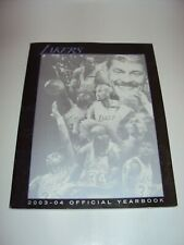 Los Angeles Lakers 2004 2005 Official Yearbook Kobe Shaq Glove Mailman