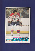 Gordie Lane RC 1977-78 O-PEE-CHEE OPC Hockey #287 (NM) Washington Capitals