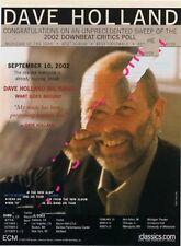 Dave Holland Miles Davis Downbeat Trade Press Advert OBLIQUE