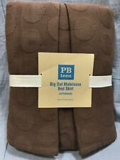 Pottery Barn Pb Teen Brown Big Dot Matelasse Full Bed Skirt