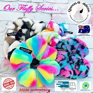 QG Fluffy Hair Elastic Scrunchies Hair Accessories Ponytail Hair Tie Bands Color