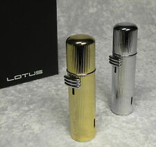 LOTUS TABLE LIGHTER TISCHFEUERZEUG CHROM GOLD SEHR EDEL