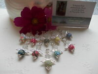 DIY KITS 15-50-Guardian angel Pendant FIMO Rhinestones Favour Wedding