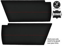 RED STITCHING 2x REAR END SIDE PANEL VINYL COVERS FITS VW T25 T3 WESTFALIA