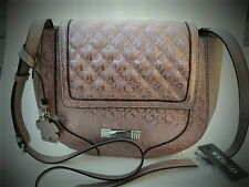 NWT large GUESS FROSTY pink crossbody Bag Purse Handbag