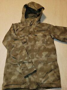 Burton White Collection DryRide Hooded Snowboarding/Skiing Winter Jacket Boys XL
