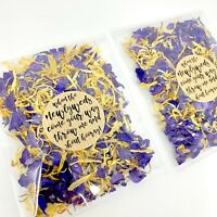 Natural Biodegradable Wedding Confetti Packets Dried Petals Blue Delphinium Pack