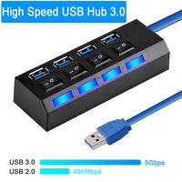USB Hub 2.0 3.0 USB Splitter Mehrere 4/7 Ports Splitter Computerzubehör