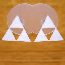 Great Solid 925 Sterling Silver Stunning Legend of Zelda Triforce Stud Earrings