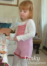 ~  Baby Knitting Pattern For Cute Little Frilled Edge Dungarees ~