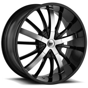 "Mazzi 364 Essence 24x9.5 5x115/5x120 +18mm Black/Machined Wheel Rim 24"" Inch"