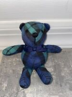 "6"" Eddie Bauer Teddy Bear Plush Stuffed Animal Plaid Miniature Small Doll Store"