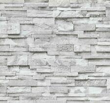 Vliestapete P+S Stein Steine Mauer 3D Optik grau weiß 02363-30 (2,06?/1qm)