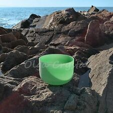10 Inch F Heart Green Quartz Crystal Singing Bowl Chakra