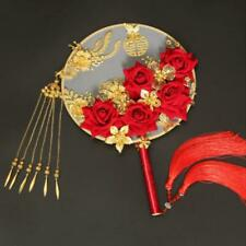 Chinese Ancient Bride Round Hand Fan Wedding Bouquet Gift Photography Props