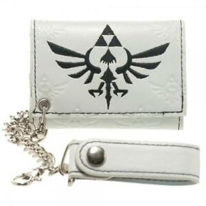 Men's Nintendo The Legend of Zelda Skyward Sword white Tri-Fold Chain Wallet