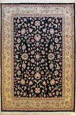 Rugstc 6x9 Pak Persian Black  Rug, Hand-Knotted,Pictorial Hunting,Silk/Wool