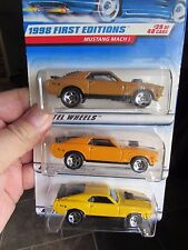 Hot Wheels Lot of (3) Mustang Mach I Types!! All Different rare