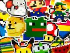 25 Gaming Arcade Mario Nintendo Minecraft Hearts Videogame Laptop Stickers BO
