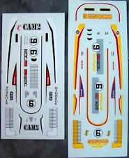 Ho Slot Car Decals Can-Am Porsche 917-30 Cam2 & Sunoco Donohue Penske