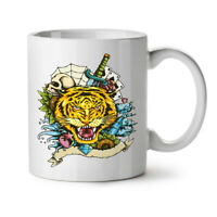 Tiger Face NEW White Tea Coffee Mug 11 oz   Wellcoda