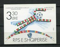 27156) Albania 1990 MNH New World Cup Soccer S/S