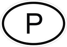 P Autocollant OVAL PORTUGAL Sticker Voiture Moto Caravane Pare-choc