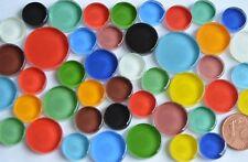 44 St. Soft-Glas Mosaiksteine rund in 3 verschiedenen Größen 12-20mm bunt ca.60g