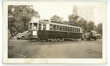 Broad Street Public Service Trolley NEWARK NJ Original 1937 Photo