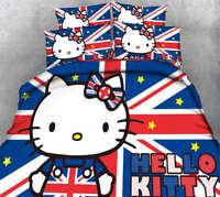 Lovely Hello Kitty 3D Printing Duvet Quilt Doona Covers Pillow Case Bedding Sets