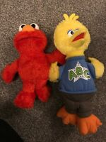Sesame Street Talking Elmo And Big Bird Abc Very Good Condition