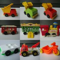 Vintage Fisher Price Little People Trains Planes and Automobiles