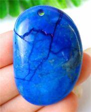 Blue Succor Creek Jasper Free Shape Pendant Bead 42x27x6mm HP20747