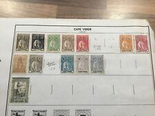 Vintage Cape Verde Postage Stamps 1914-1922