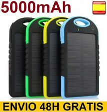 Cargador bateria externa solar 5000 MAH para movil tablet power bank
